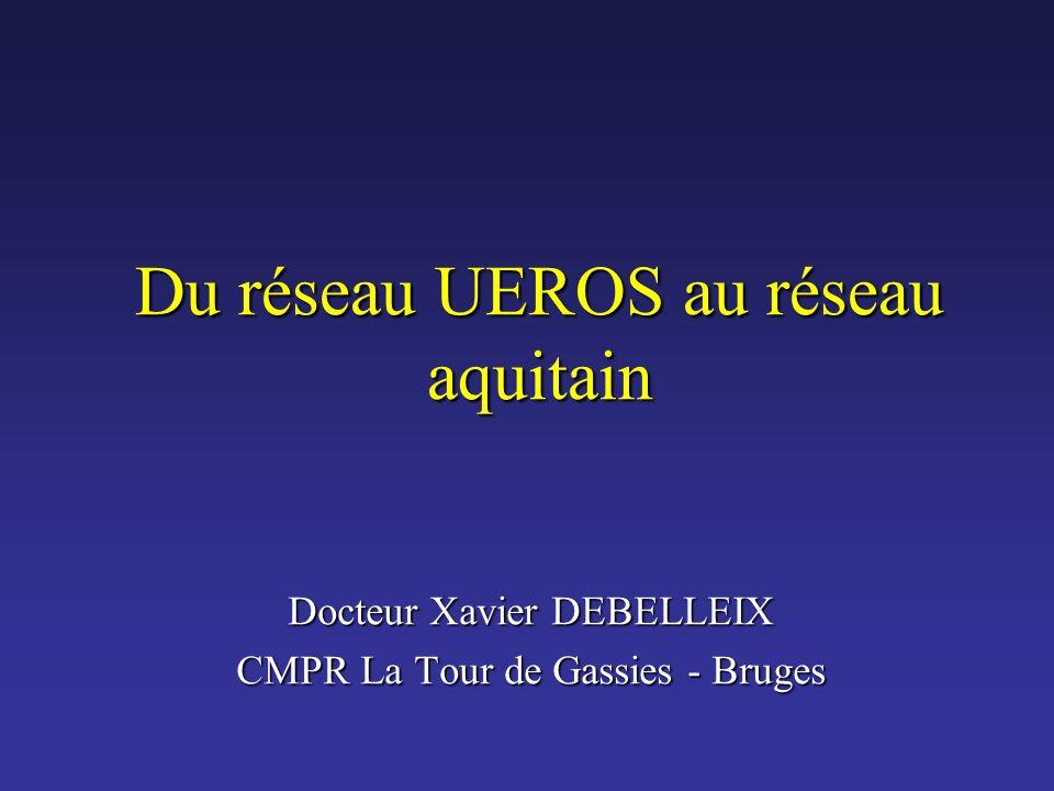 Du réseau UEROS au réseau aquitain Docteur Xavier DEBELLEIX CMPR La Tour de Gassies - Bruges