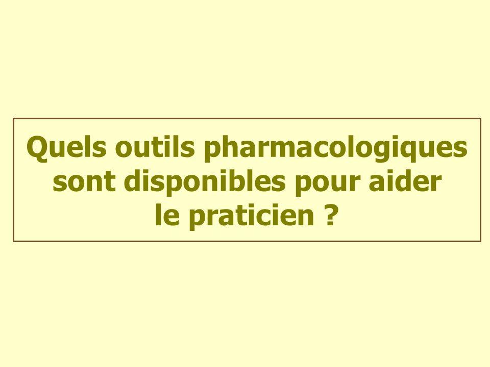 Quels outils pharmacologiques sont disponibles pour aider le praticien ?