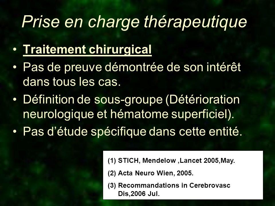 Conduite à tenir thérapeutique Rechercher lanticoagulation.
