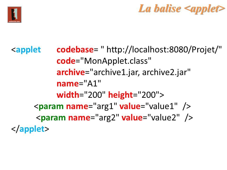 La balise La balise <applet codebase=