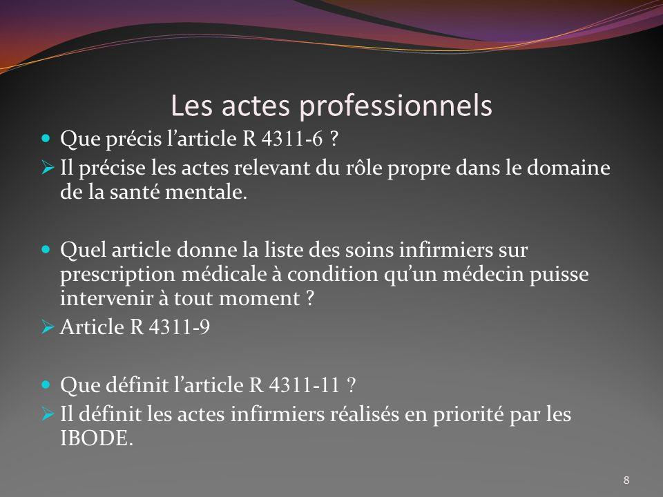 Relation AS/IDE Compléter la phrase : LIDE est responsable de lAS dont elle ……………………..