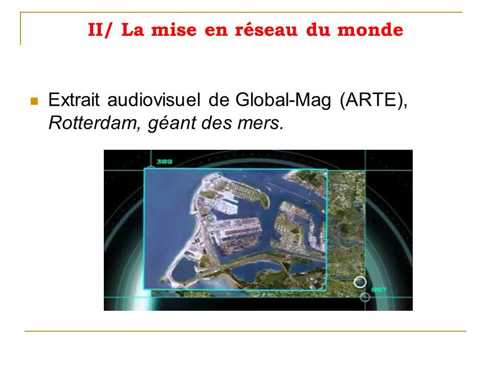II/ La mise en réseau du monde Extrait audiovisuel de Global-Mag (ARTE), Rotterdam, géant des mers.