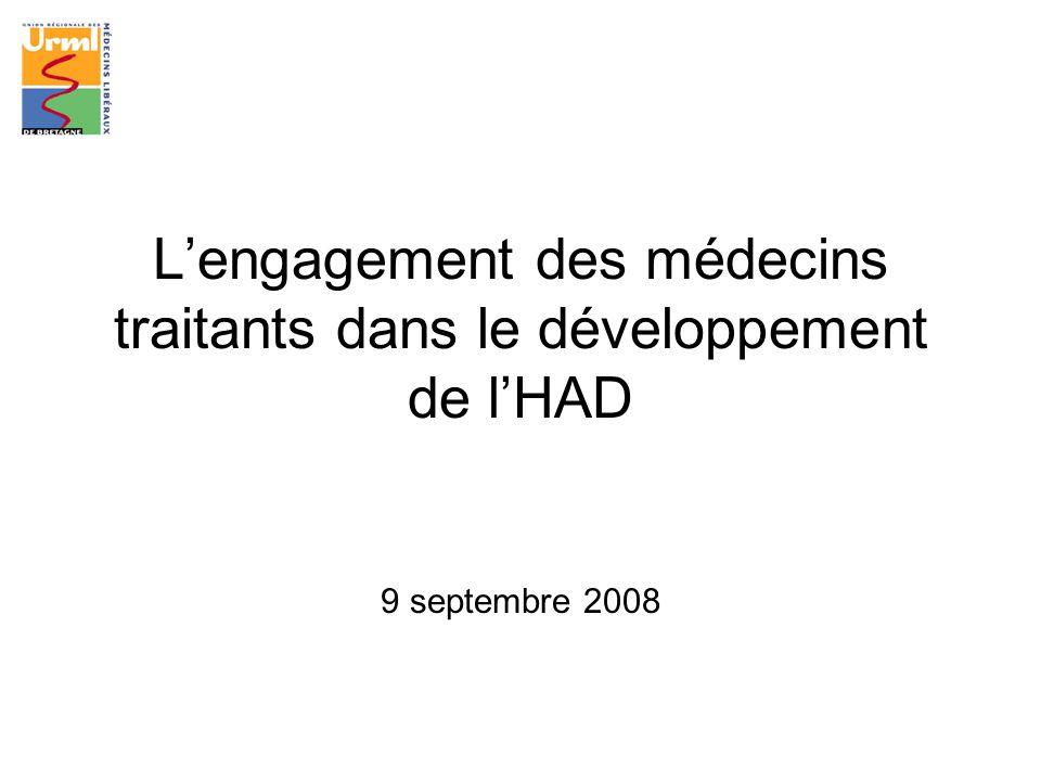Lengagement des médecins traitants dans le développement de lHAD 9 septembre 2008