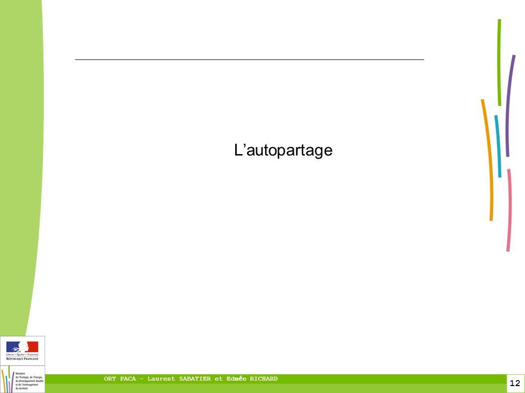 12 ORT PACA – Laurent SABATIER et Edm é e RICHARD Lautopartage