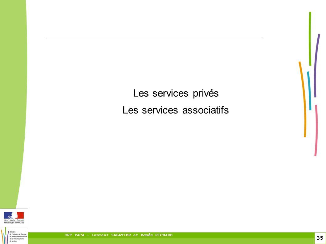 35 ORT PACA – Laurent SABATIER et Edm é e RICHARD Les services privés Les services associatifs