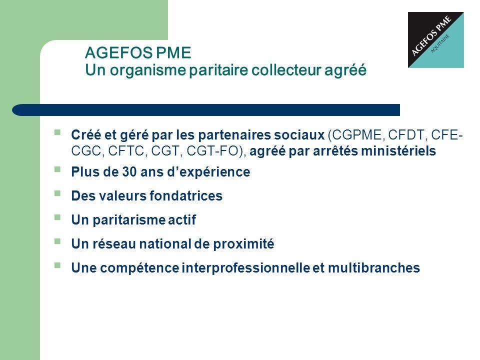 Créé et géré par les partenaires sociaux (CGPME, CFDT, CFE- CGC, CFTC, CGT, CGT-FO), agréé par arrêtés ministériels Plus de 30 ans dexpérience Des val