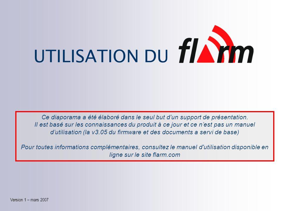 UTILISATION DU Version 1 Version 1 – mars 2007 Ce diaporama a été élaboré dans le seul but dun support de présentation.