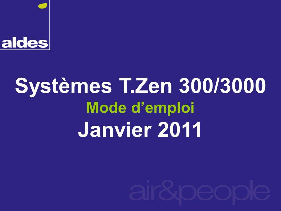 Systèmes T.Zen 300/3000 Mode demploi Janvier 2011