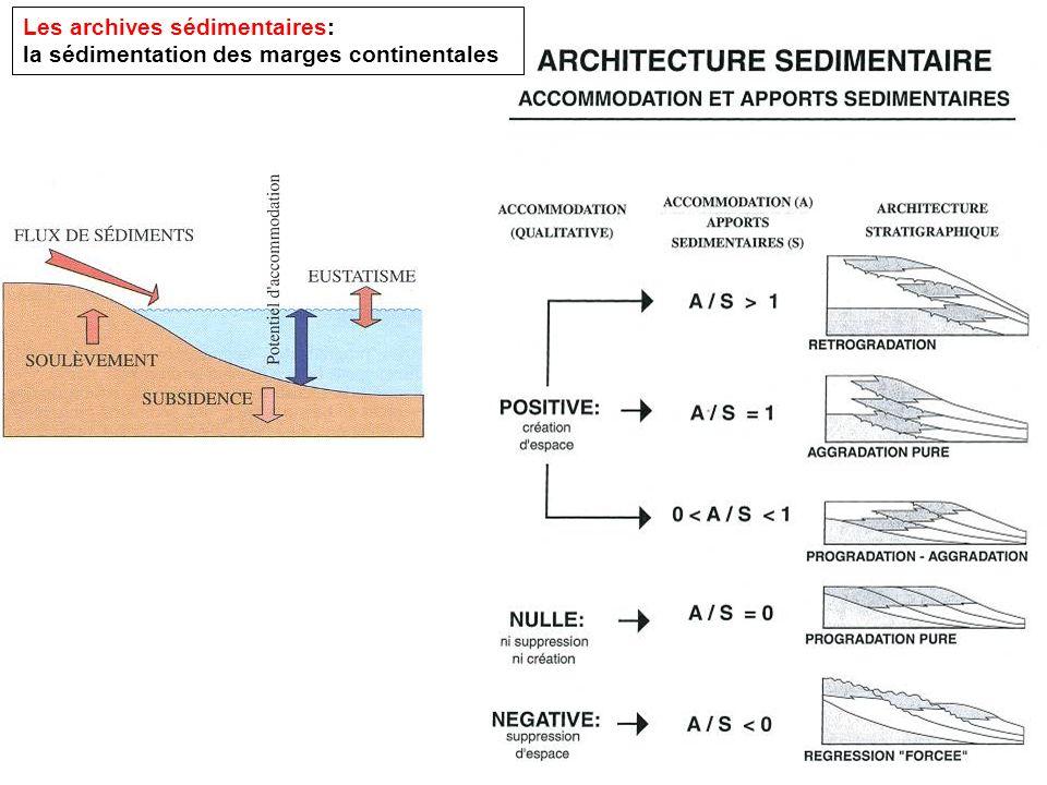 Les archives sédimentaires: la sédimentation des marges continentales
