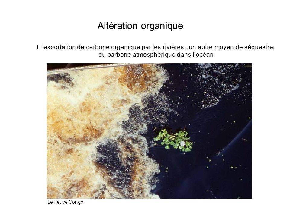 L exportation de carbone organique par les rivières : un autre moyen de séquestrer du carbone atmosphérique dans locéan Altération organique Le fleuve