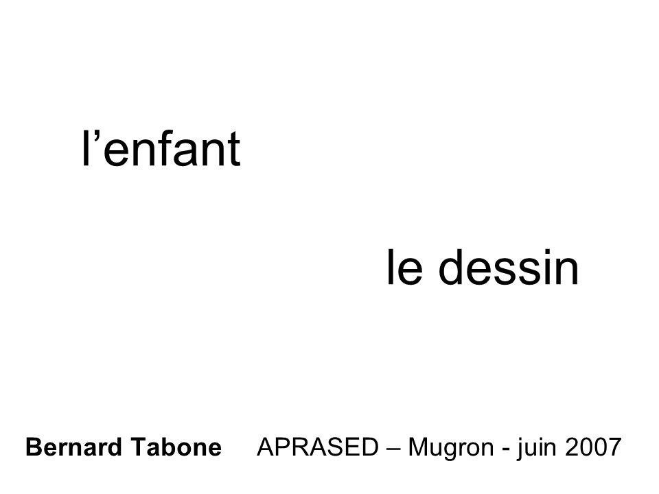 lenfant le dessin Bernard Tabone APRASED – Mugron - juin 2007