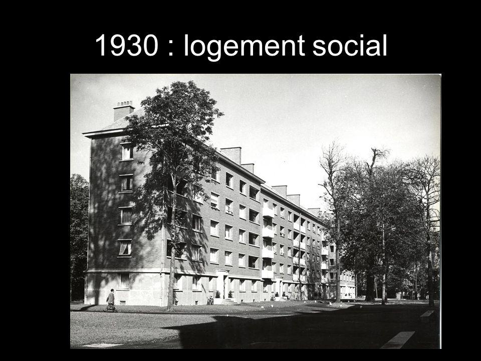 1930 : logement social