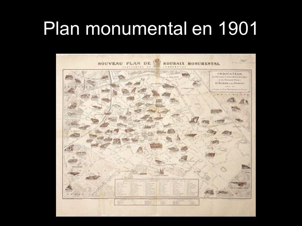 Plan monumental en 1901