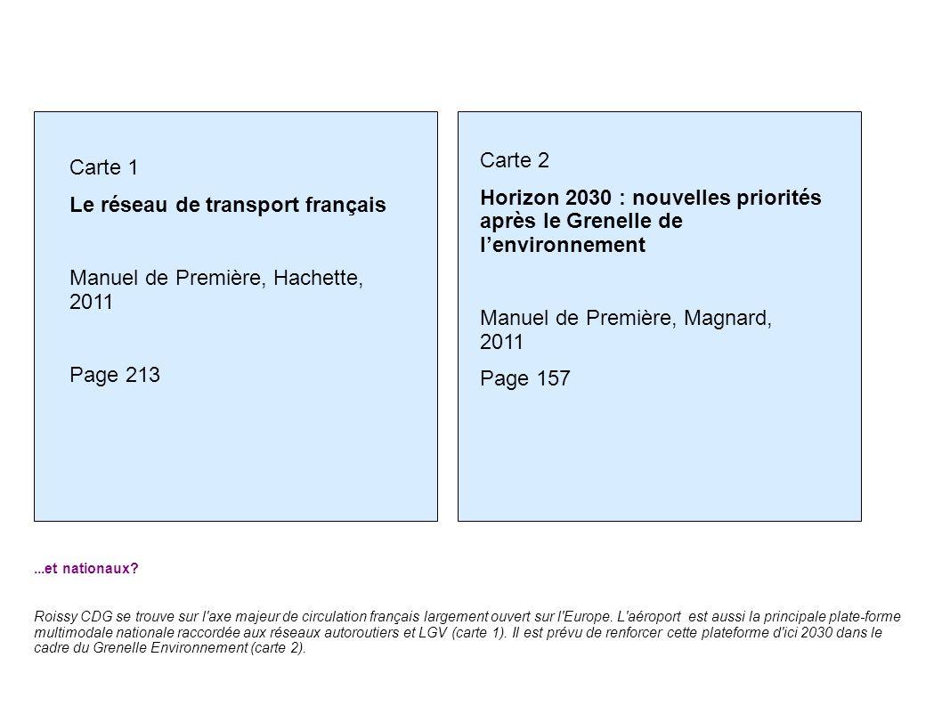 ...et nationaux? Roissy CDG se trouve sur l'axe majeur de circulation français largement ouvert sur l'Europe. L'aéroport est aussi la principale plate