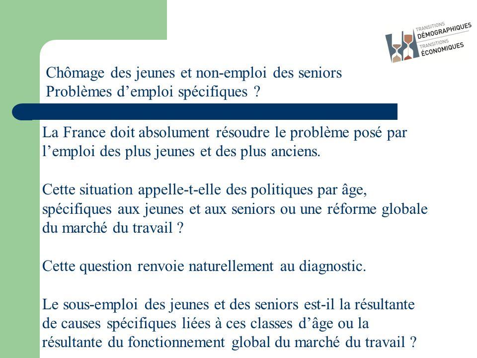La France doit absolument résoudre le problème posé par lemploi des plus jeunes et des plus anciens. Cette situation appelle-t-elle des politiques par