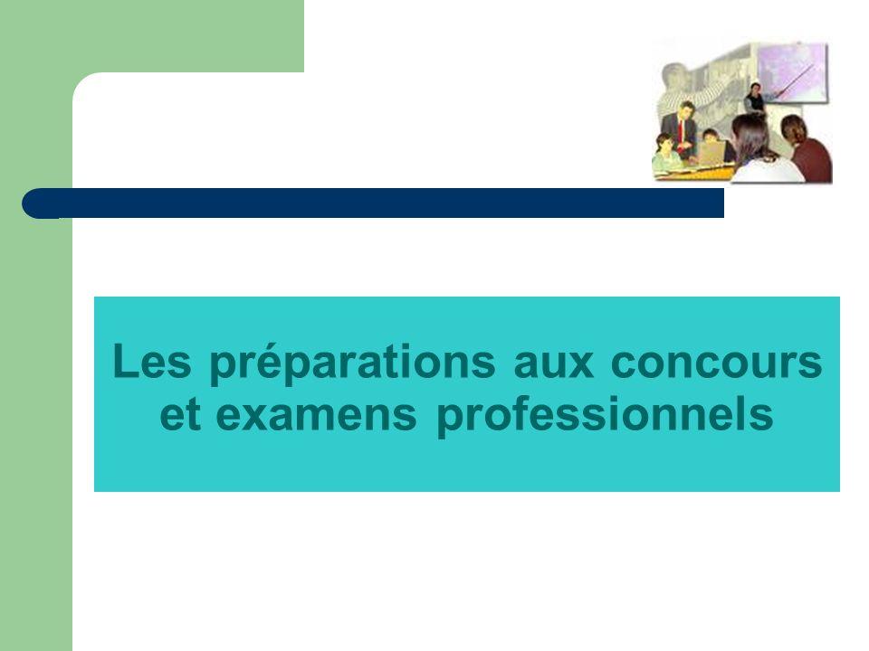 Les préparations aux concours et examens professionnels