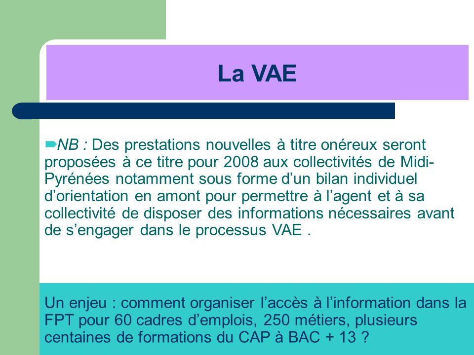 NB : Des prestations nouvelles à titre onéreux seront proposées à ce titre pour 2008 aux collectivités de Midi- Pyrénées notamment sous forme dun bila