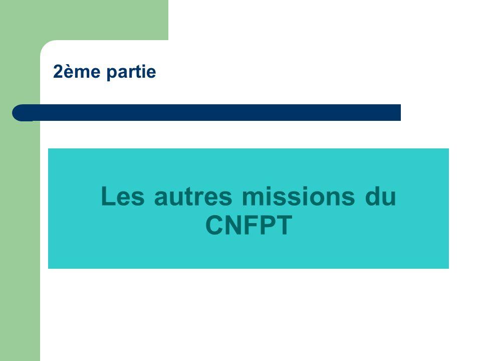 Les autres missions du CNFPT 2ème partie
