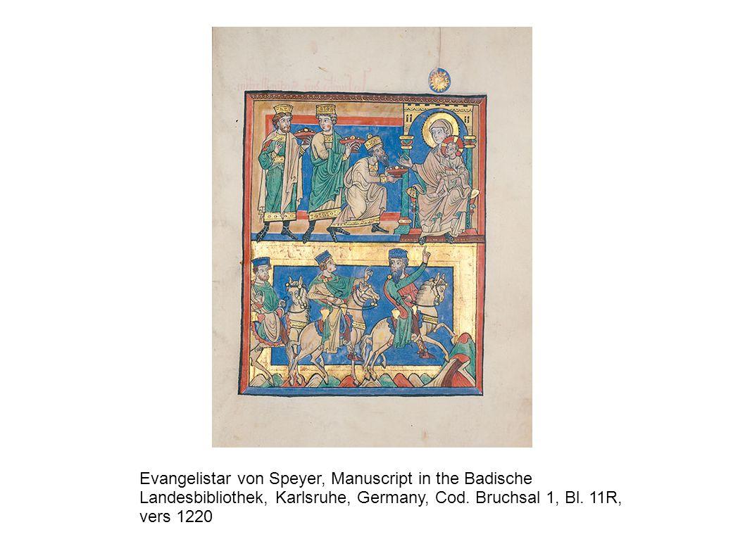 Evangelistar von Speyer, Manuscript in the Badische Landesbibliothek, Karlsruhe, Germany, Cod. Bruchsal 1, Bl. 11R, vers 1220