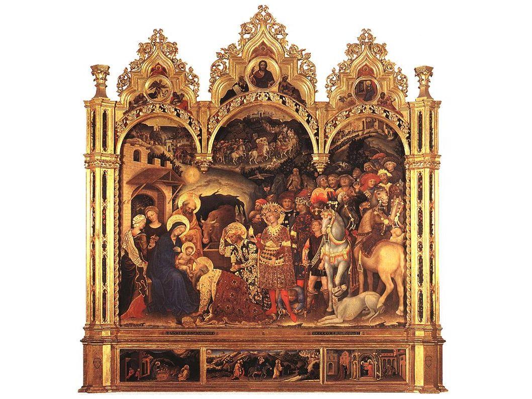 Gentile da Fabriano : Nativité.Détail de la prédelle du retable de lAdoration des Mages.