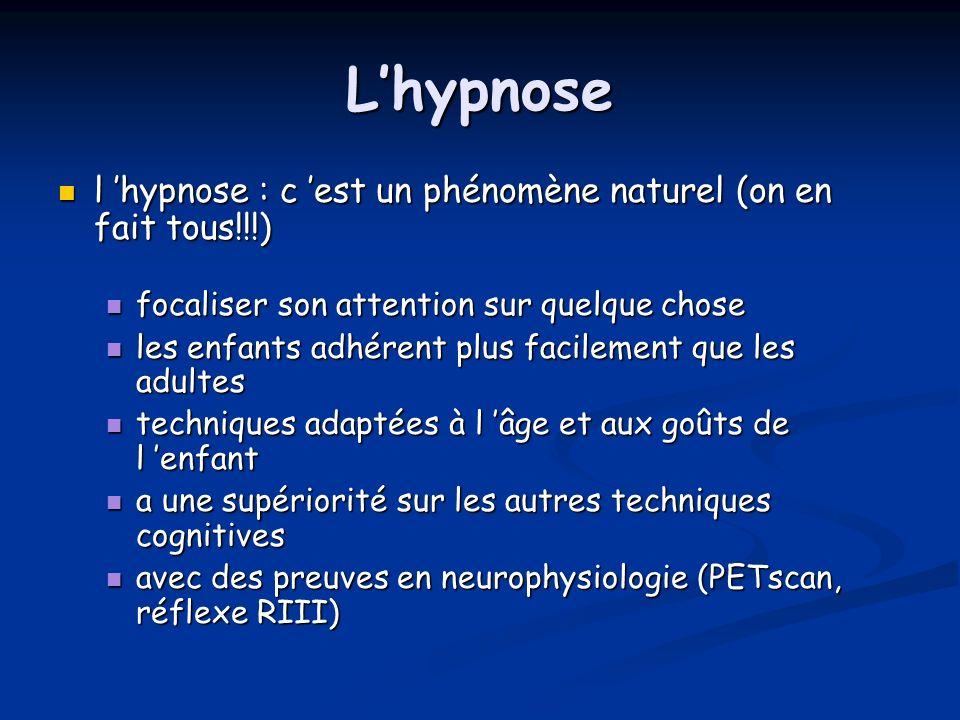 Lhypnose l hypnose : c est un phénomène naturel (on en fait tous!!!) l hypnose : c est un phénomène naturel (on en fait tous!!!) focaliser son attenti