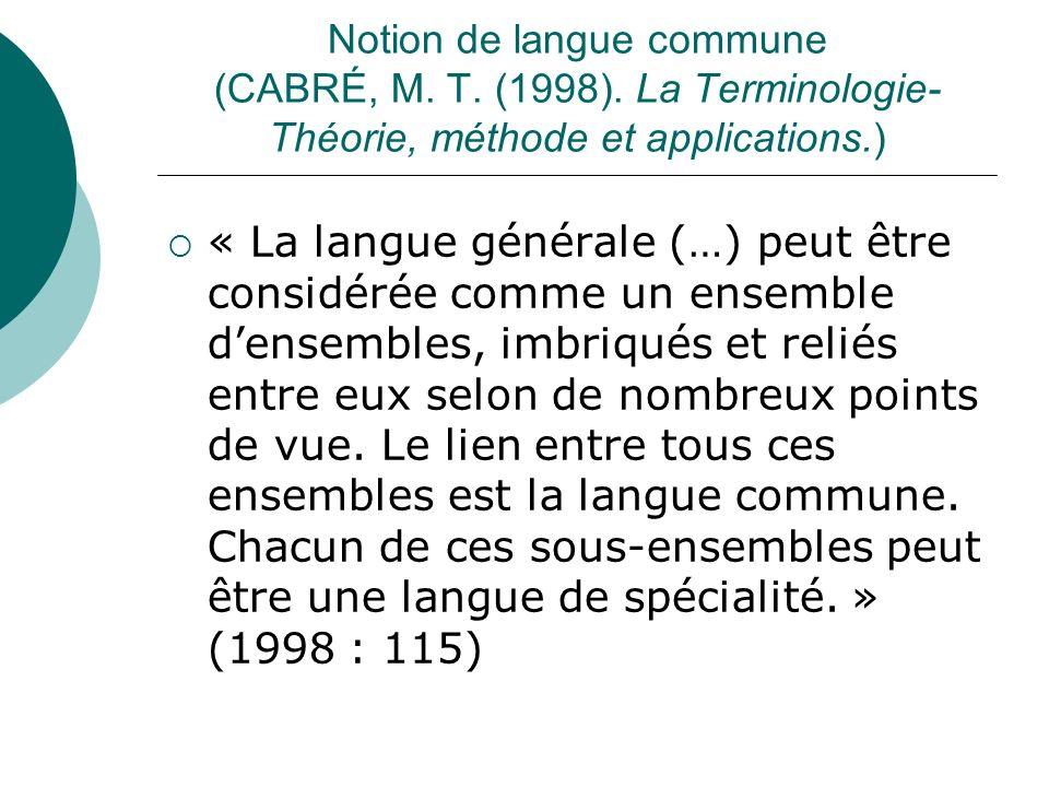 La présence fréquente de certains vocables à lintérieur de constructions syntaxiques figées ne signifie pas pour autant que lon a affaire à un patron syntaxique qui se présente exclusivement en langue de spécialité.