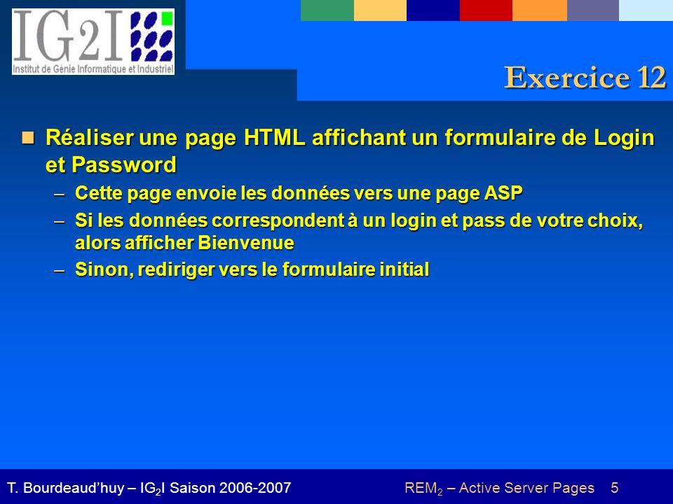REM 2 – Active Server Pages 16T.