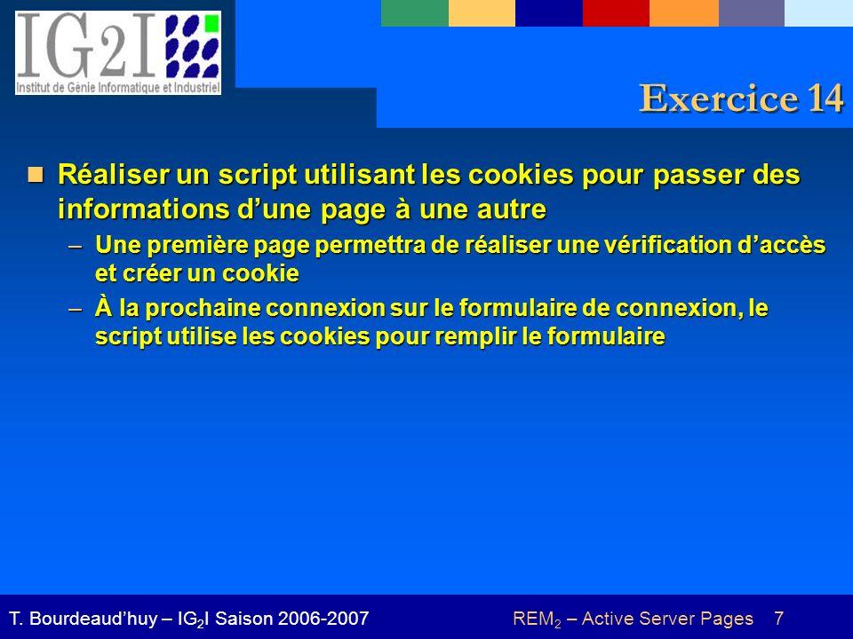 REM 2 – Active Server Pages 18T.