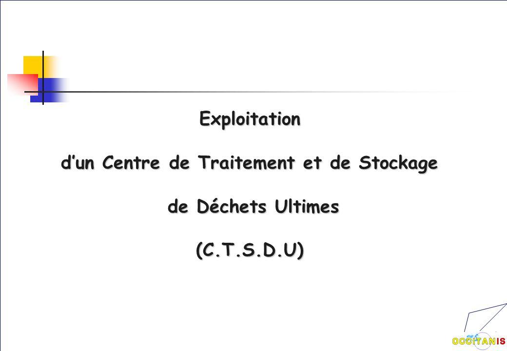 Exploitation dun Centre de Traitement et de Stockage de Déchets Ultimes de Déchets Ultimes(C.T.S.D.U)