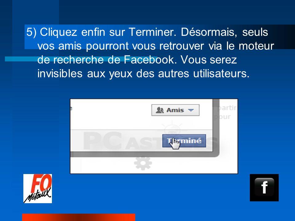 5) Cliquez enfin sur Terminer.