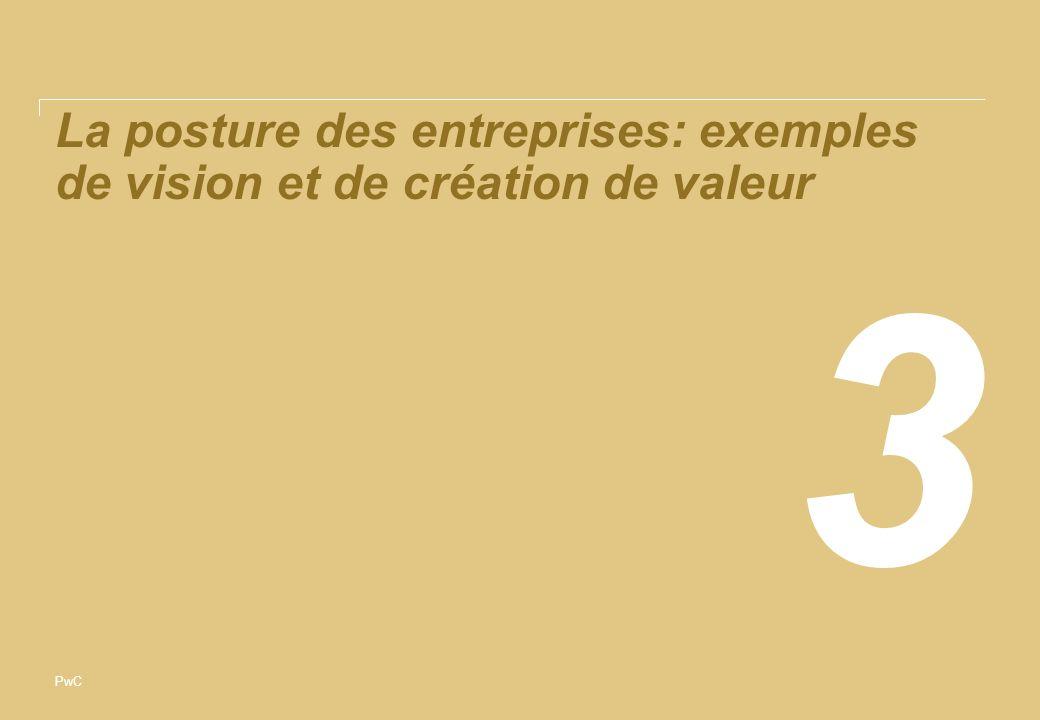 PwC La posture des entreprises: exemples de vision et de création de valeur 3
