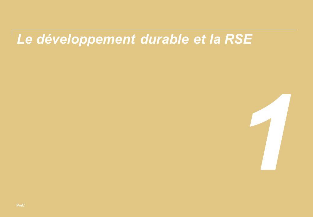 PwC Le développement durable et la RSE 1