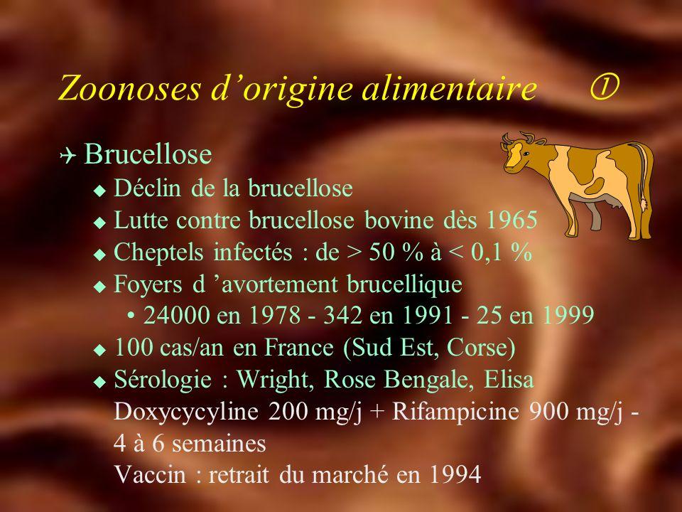 Infections respiratoires transmises par les animaux de compagnie Q Chlamydiose u Chlamydia psittaci u Perroquets, perruches, pigeons aérosolisation des déjections u Pneumopathie atypique, méningo-encéphalite, autres atteintes viscérales u 3 épidémies dans la filière avicole u Sérologie Cyclines, macrolides, quinolones