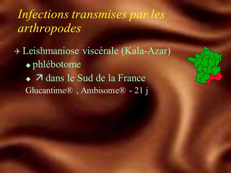 Infections transmises par les tiques Q Tick Borne Encephalitis - TBE u Ixodes ricinus u Méningo-encéphalite, méningite u Alsace-Lorraine u Europe centrale, Autriche +++ Vaccination : Ticovac® J0, J30, J360