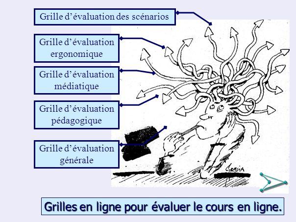 15 Grilles en ligne pour évaluer le cours en ligne.
