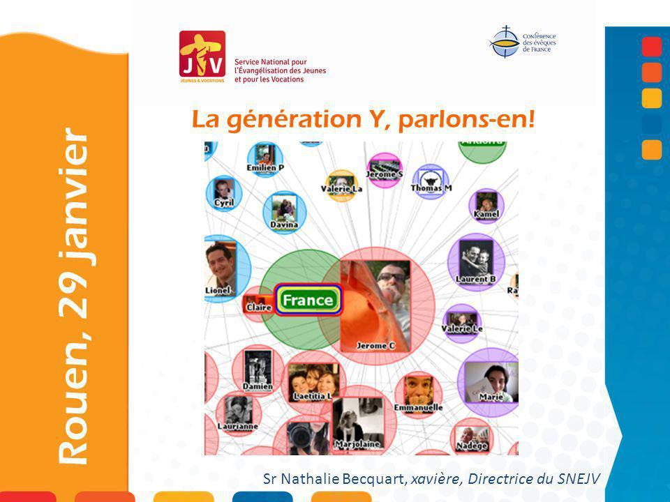 La génération Y, parlons-en! Rouen, 29 janvier Sr Nathalie Becquart, xavière, Directrice du SNEJV