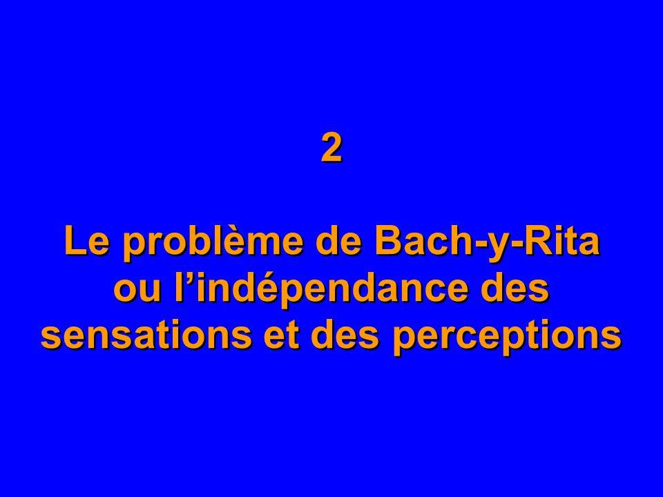 2 Le problème de Bach-y-Rita ou lindépendance des sensations et des perceptions