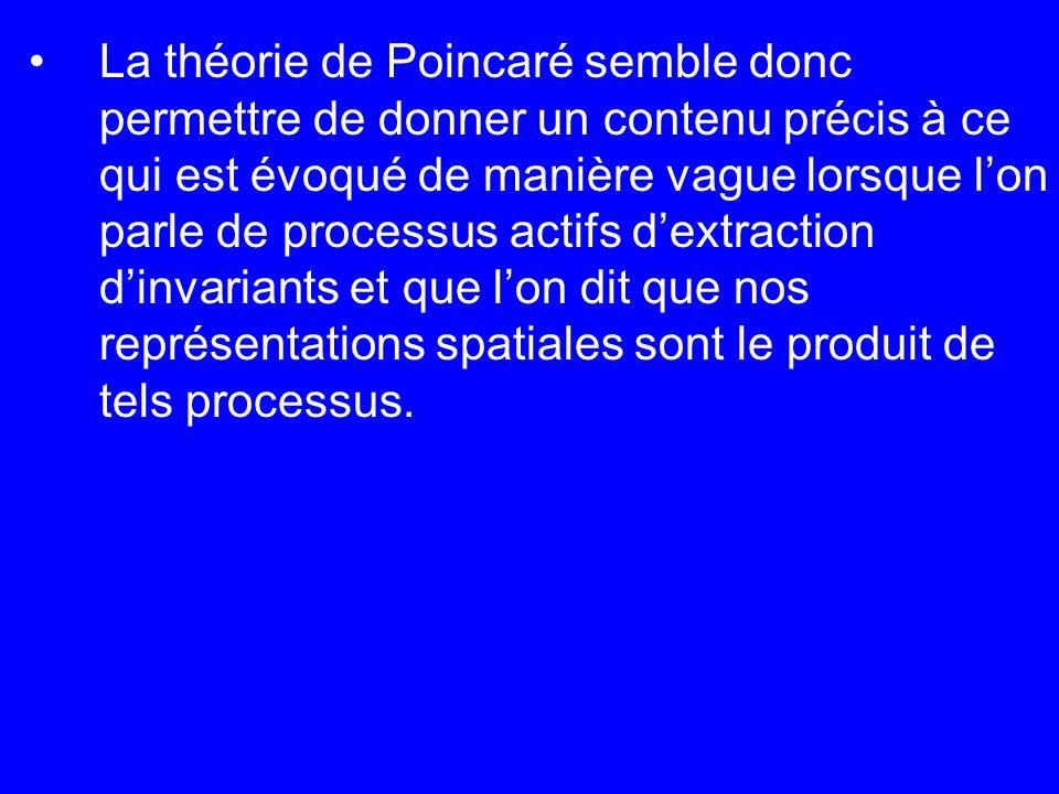 La théorie de Poincaré semble donc permettre de donner un contenu précis à ce qui est évoqué de manière vague lorsque lon parle de processus actifs de