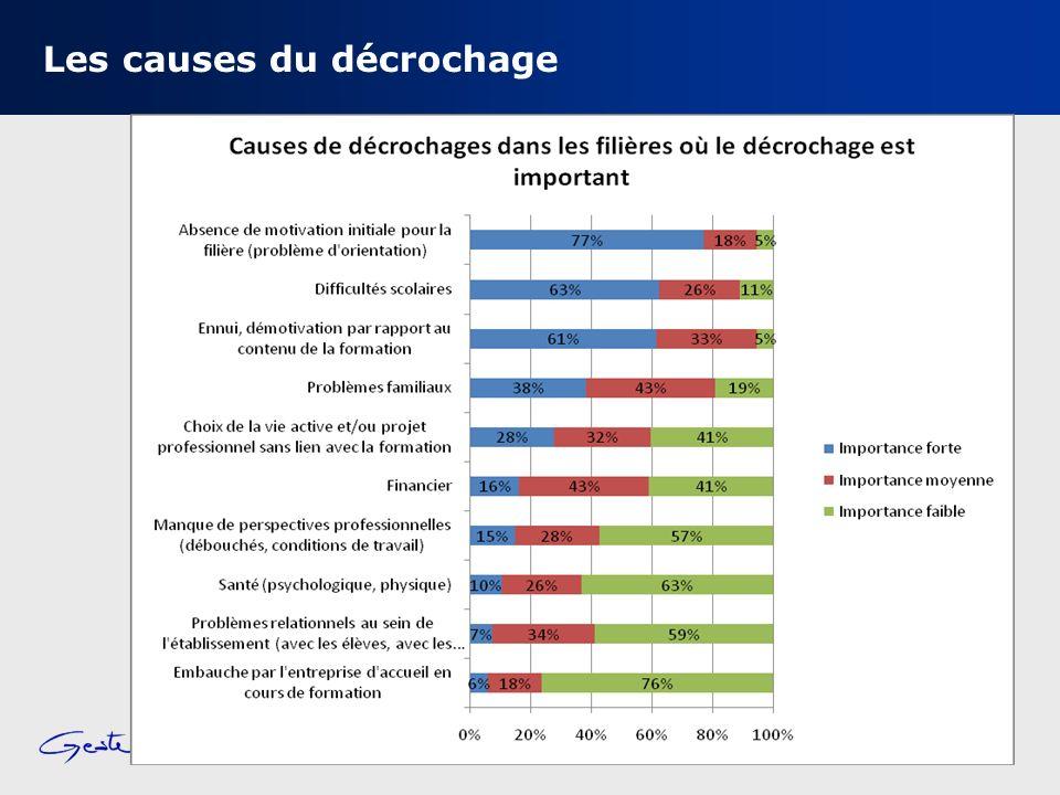 Conseil régional Rhône-Alpes – Mission dobservation – 19 octobre 2011 Les causes du décrochage