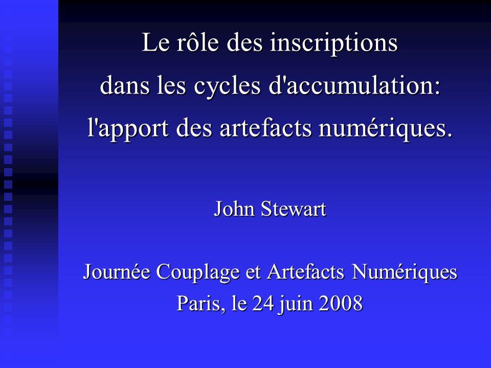 Le rôle des inscriptions dans les cycles d'accumulation: l'apport des artefacts numériques. Le rôle des inscriptions dans les cycles d'accumulation: l