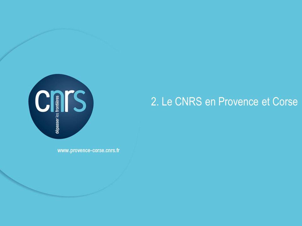 Le CNRS en région © CNRS DR12 Le CNRS au niveau national 34 530 personnes dont 25 630 statutaires 11450 chercheurs et 14180 IT En délégation Provence et Corse 7,7 % de leffectif total du CNRS Chiffres au 31/12/2010
