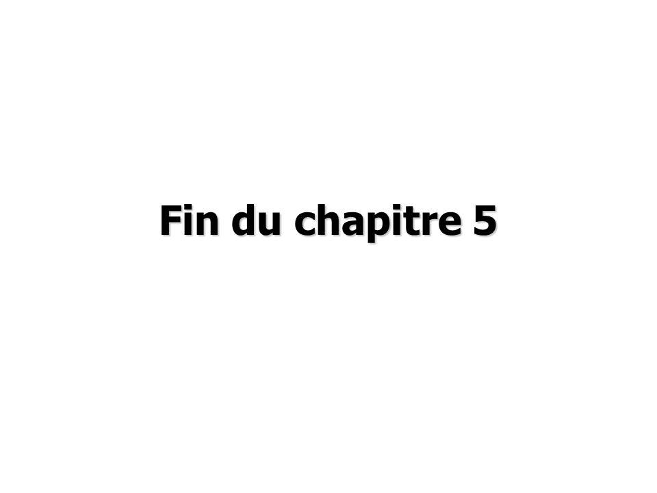 Fin du chapitre 5