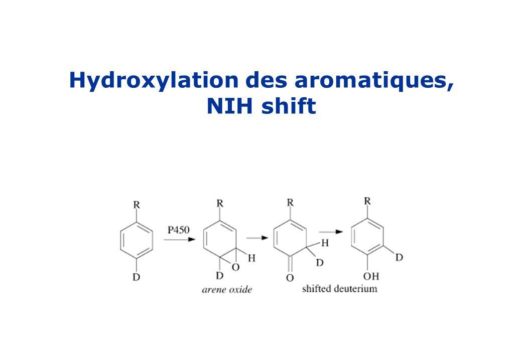 Hydroxylation des aromatiques, NIH shift
