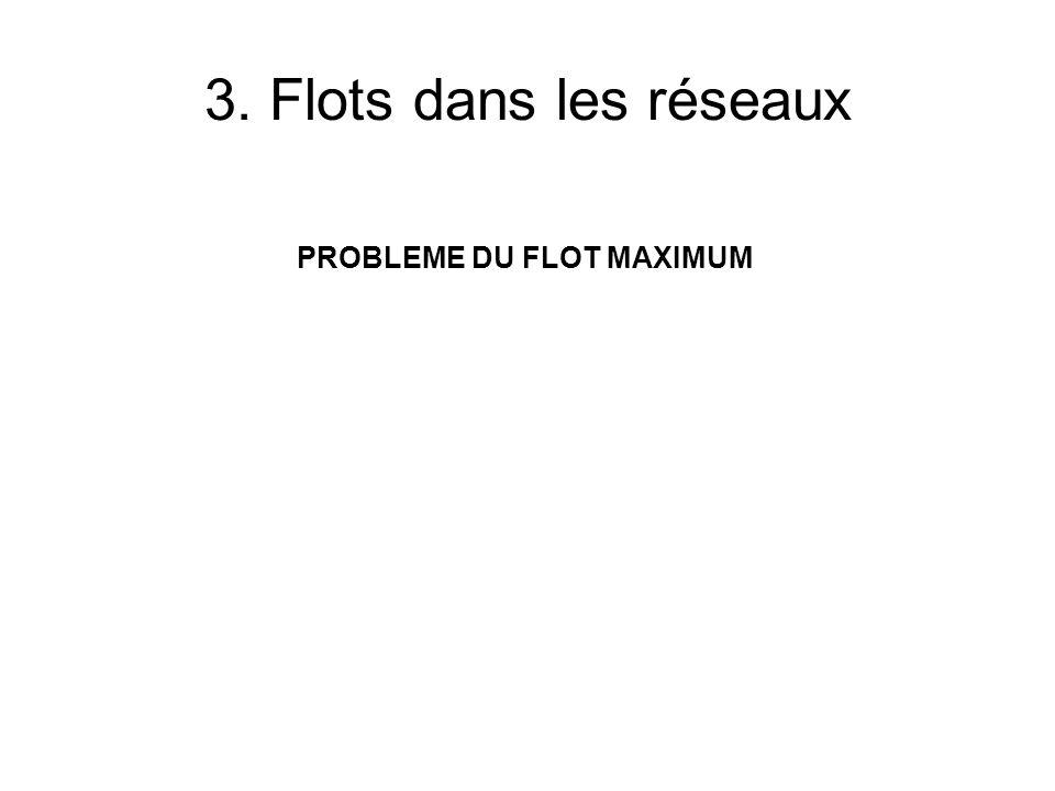 3. Flots dans les réseaux PROBLEME DU FLOT MAXIMUM