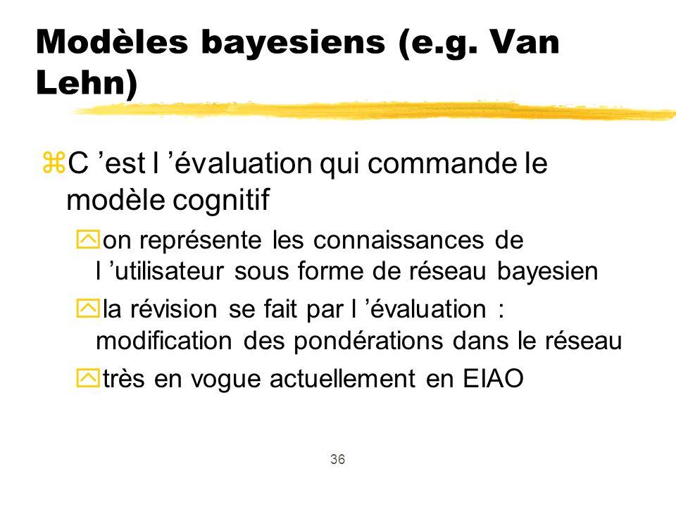 36 Modèles bayesiens (e.g.
