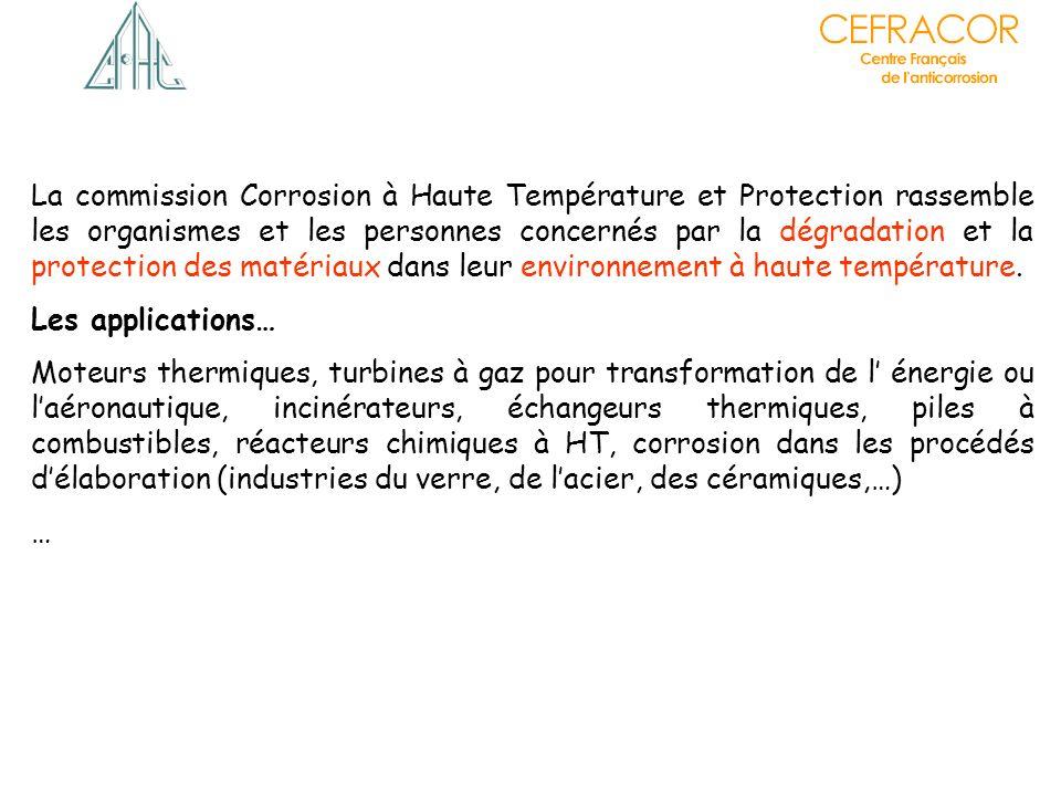 Les applications… Moteurs thermiques, turbines à gaz pour transformation de l énergie ou laéronautique, incinérateurs, échangeurs thermiques, piles à