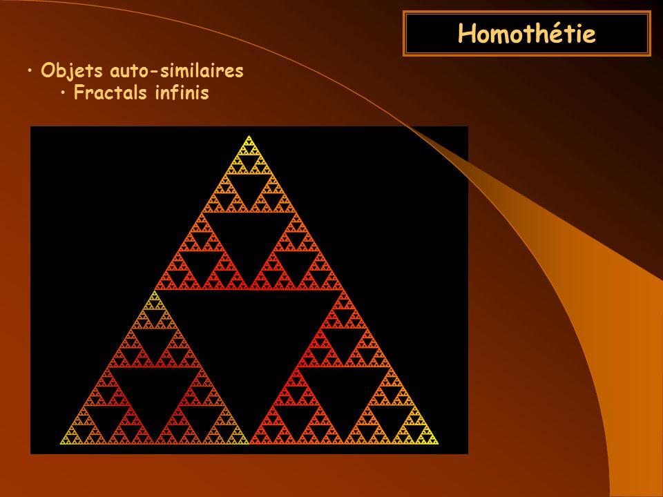 Homothétie Objets auto-similaires Fractals infinis