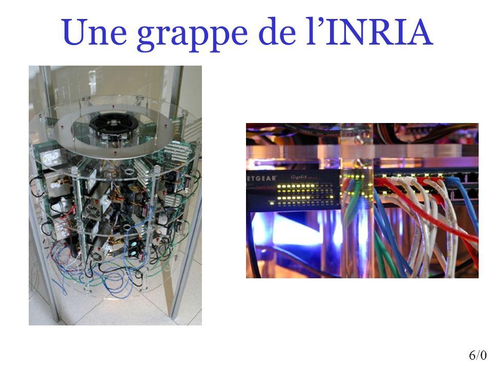 7/0 Super-ordinateurs Le earth-simulator au Japon, environ 5000 processeurs…Le Tera-10 du CEA (France) est classé par mis les 5 plus puissantes machines…