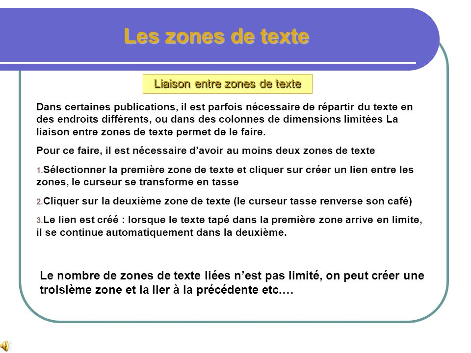 Les zones de texte Insertion dune zone de texte personnalisée Pour insérer une zone de texte à partir de formes automatiques : 1. Dans la barre doutil