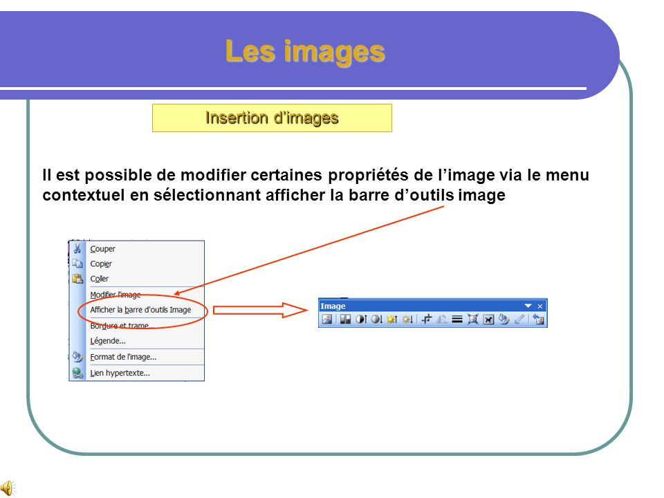Les images Insertion dimages